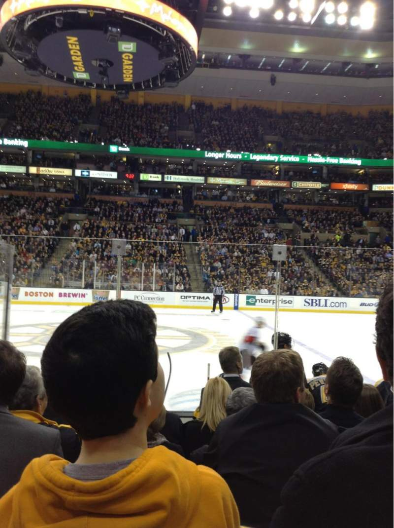Seating view for TD Garden Section Loge 1 Row 7 Seat 6