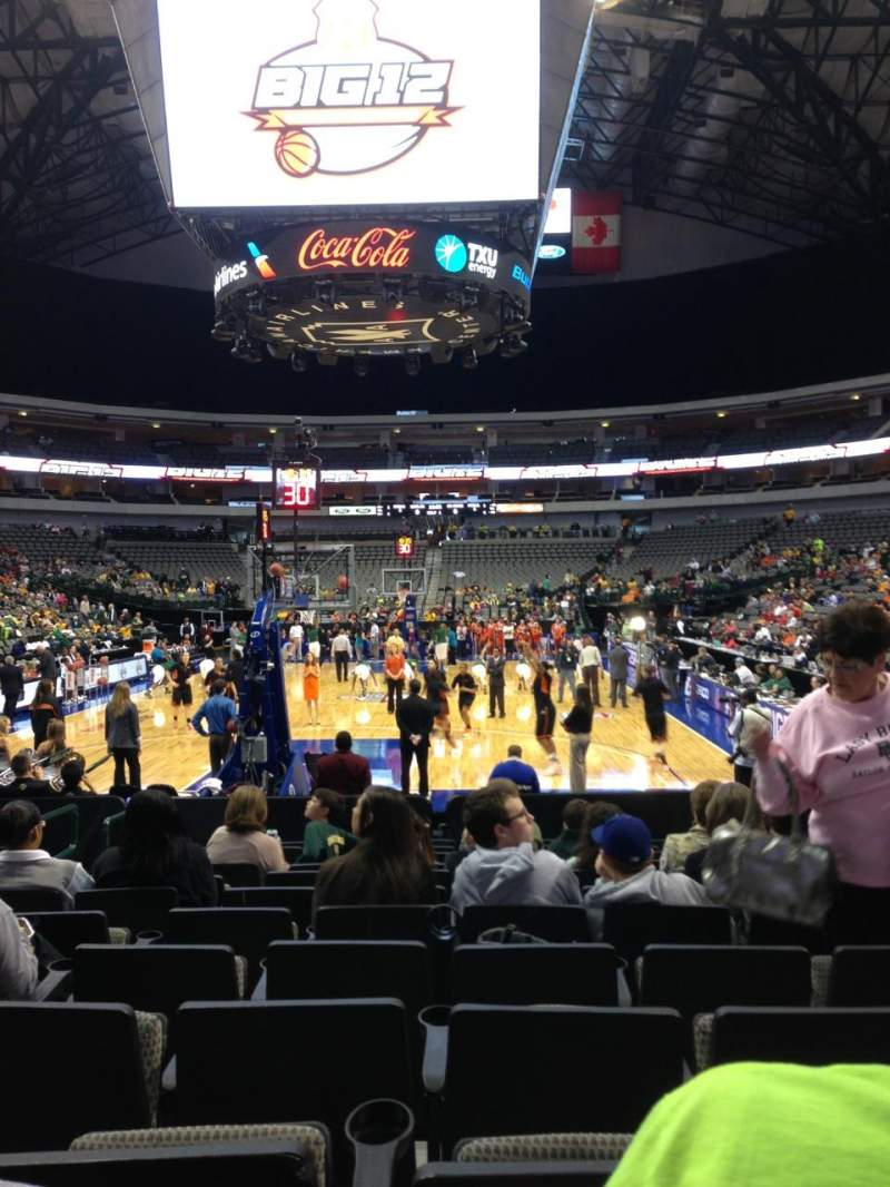 Seating view for American Airlines Center Section 112 Row B Seat 9
