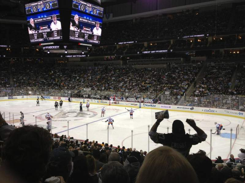Seating view for PPG Paints Arena Section 110 Row V Seat 10