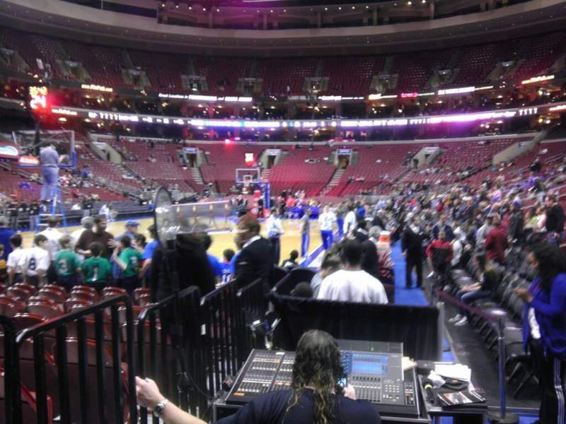 Seating view for Wells Fargo Center Section 121 Row 1 Seat 14
