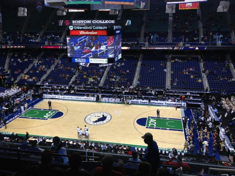 Seating view for Greensboro Coliseum Section 212 Row L Seat 14