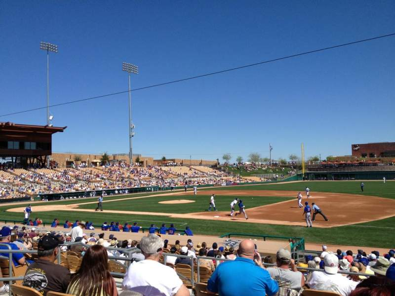 Seating view for Camelback Ranch Section 105 Row 7 Seat 10