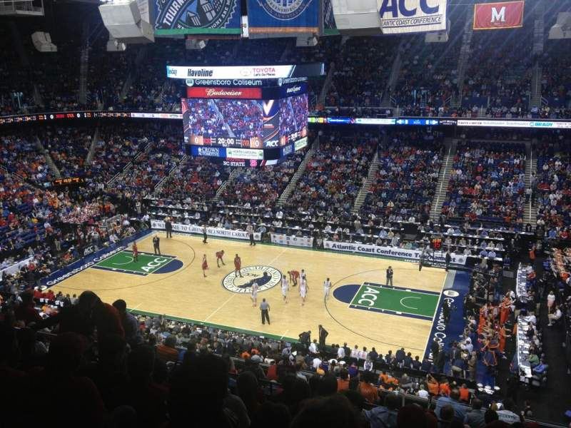 Seating view for Greensboro Coliseum Section 213 Row N Seat 11