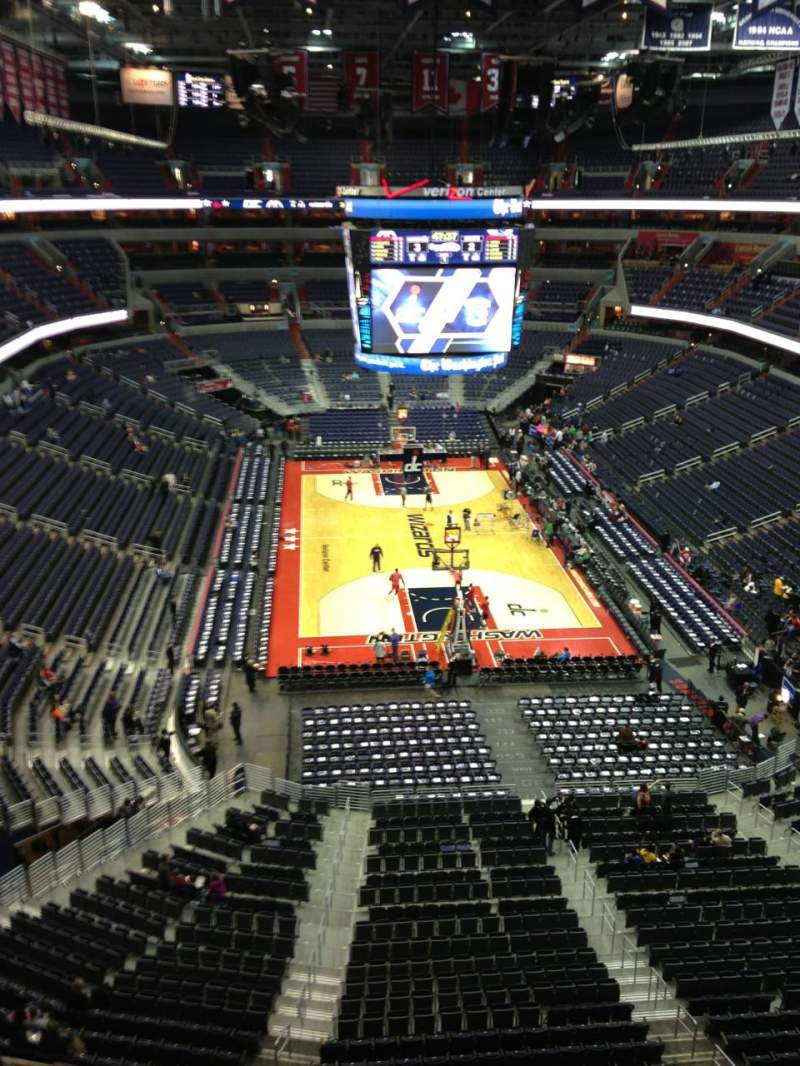 Seating view for Verizon Center Section 425 Row G Seat 1