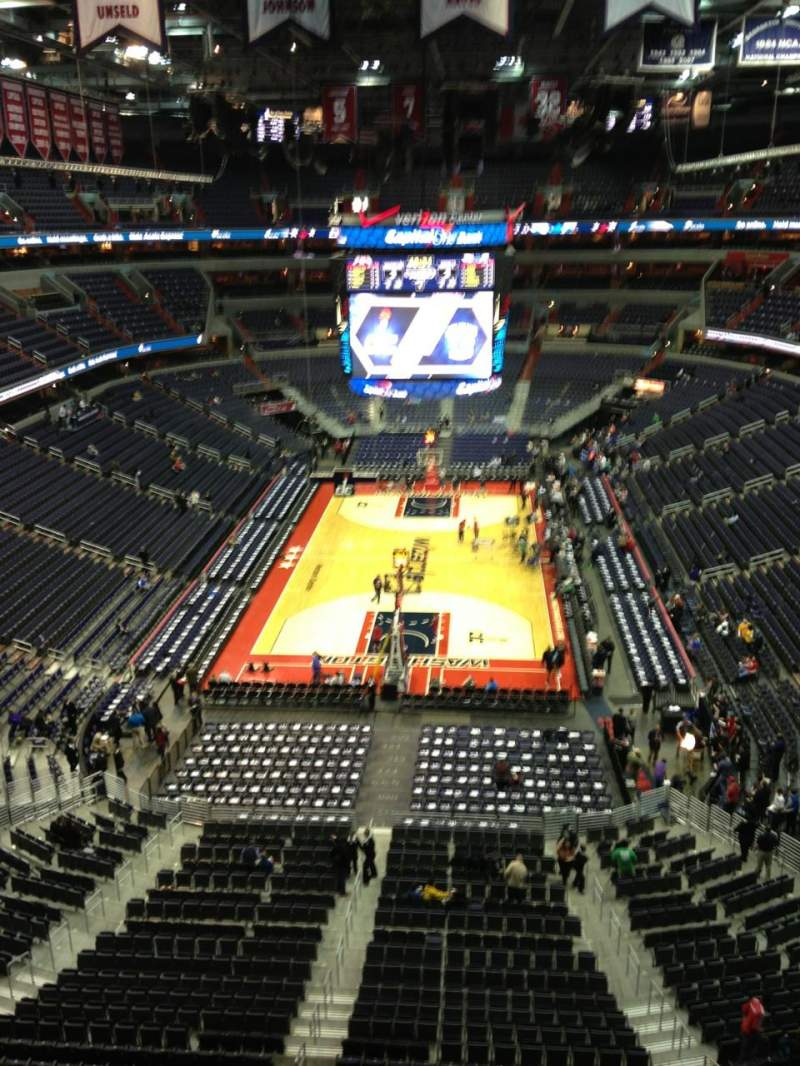 Seating view for Verizon Center Section 426 Row G Seat 1