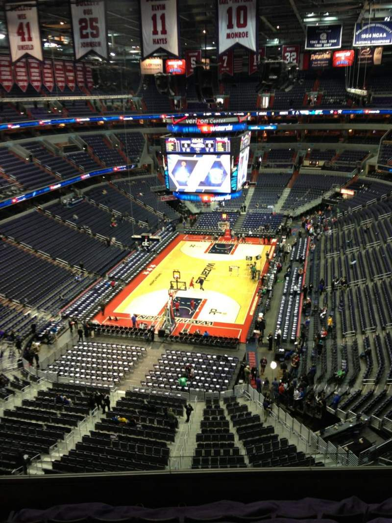 Seating view for Verizon Center Section 427 Row G Seat 1