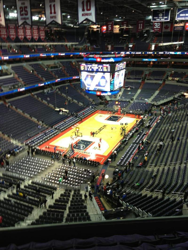Seating view for Verizon Center Section 428 Row G Seat 1