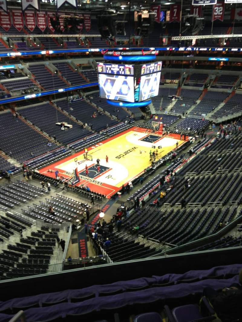 Seating view for Verizon Center Section 429 Row G Seat 1