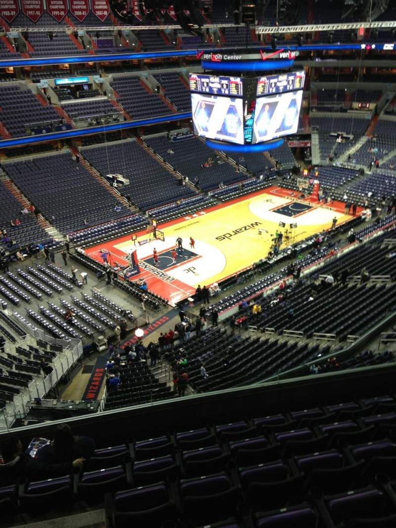 Seating view for Verizon Center Section 430 Row G Seat 1