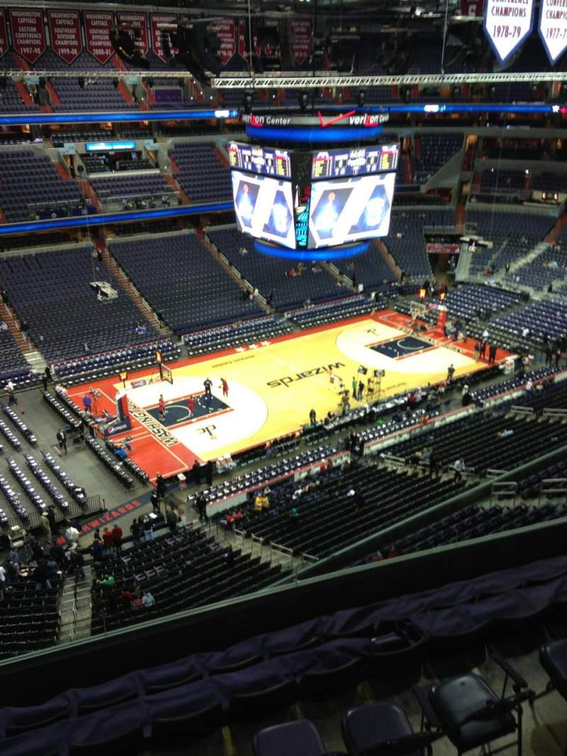Seating view for Verizon Center Section 431 Row G Seat 1