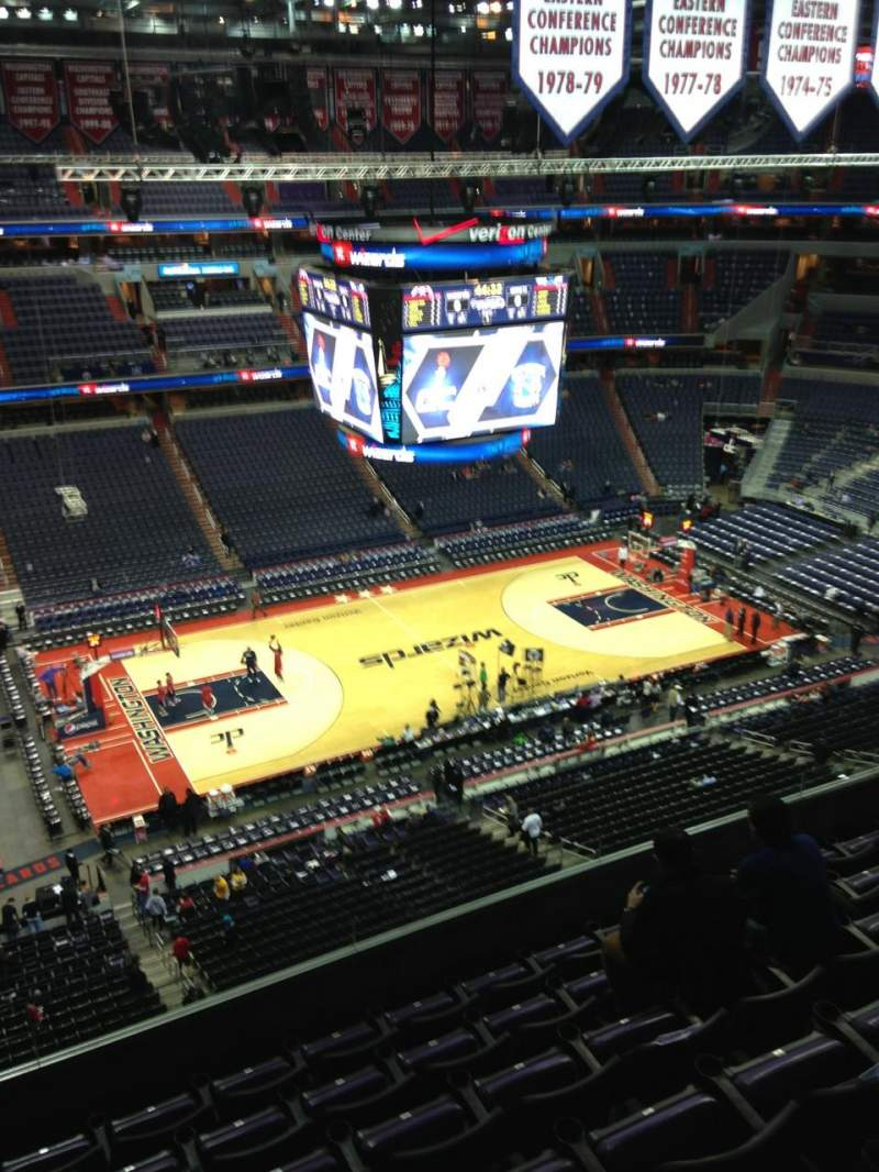 Seating view for Verizon Center Section 432 Row G Seat 1