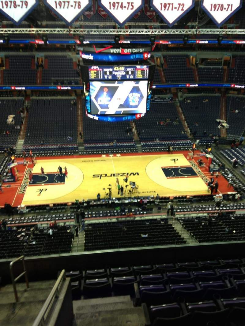 Seating view for Verizon Center Section 400 Row G Seat 1