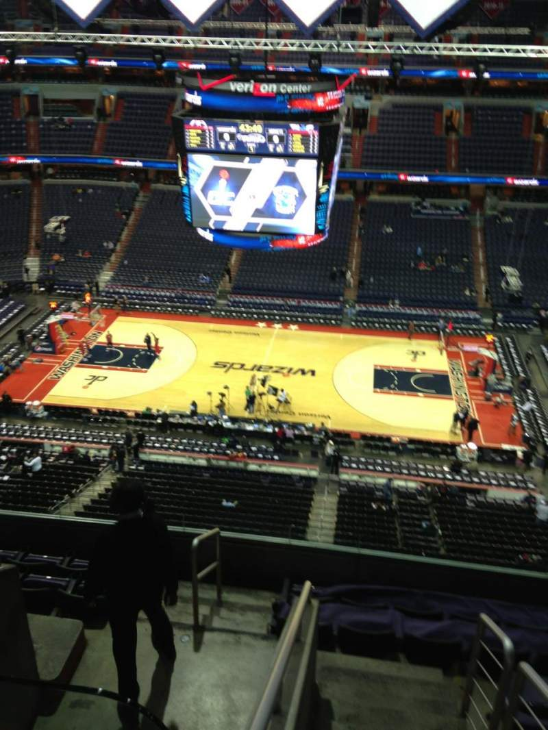 Seating view for Verizon Center Section 401 Row G Seat 1