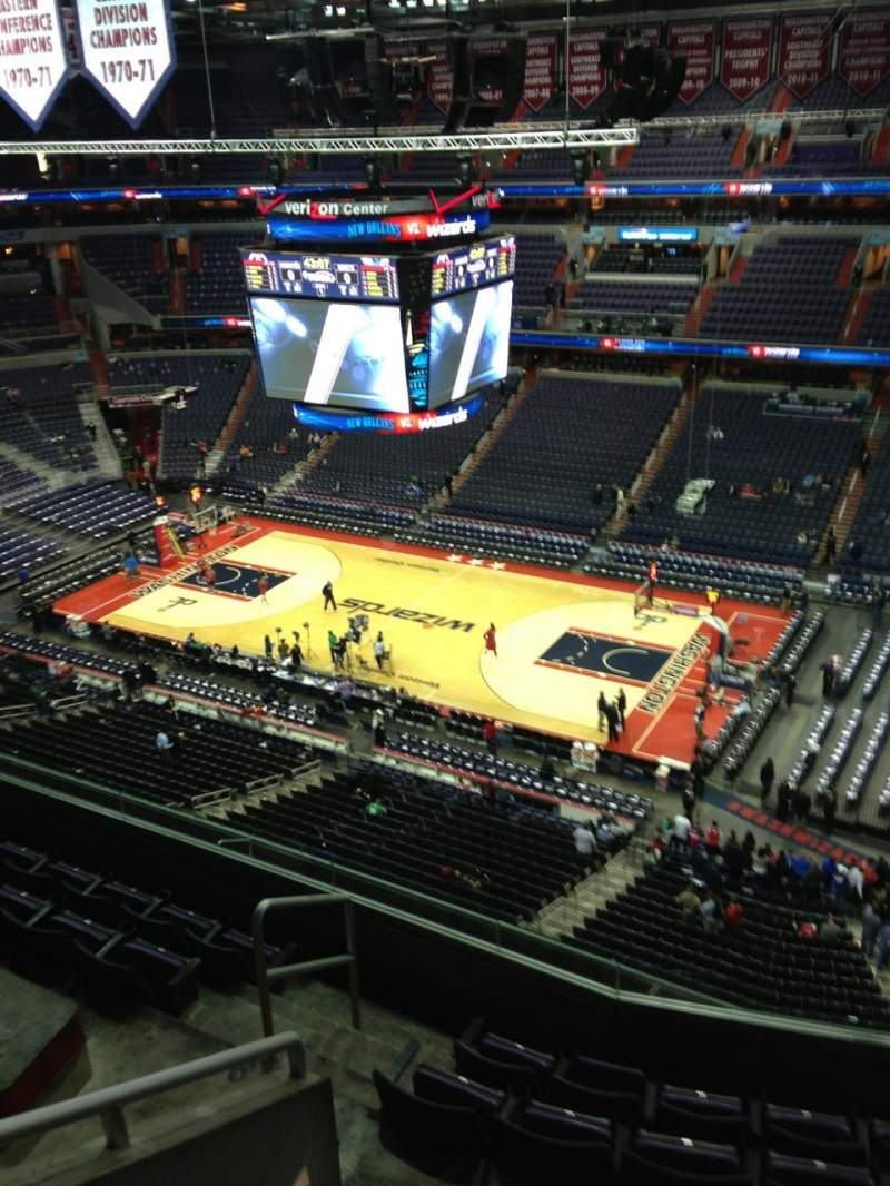 Seating view for Verizon Center Section 402 Row G Seat 1