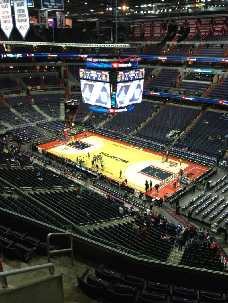 Seating view for Verizon Center Section 406 Row G Seat 1