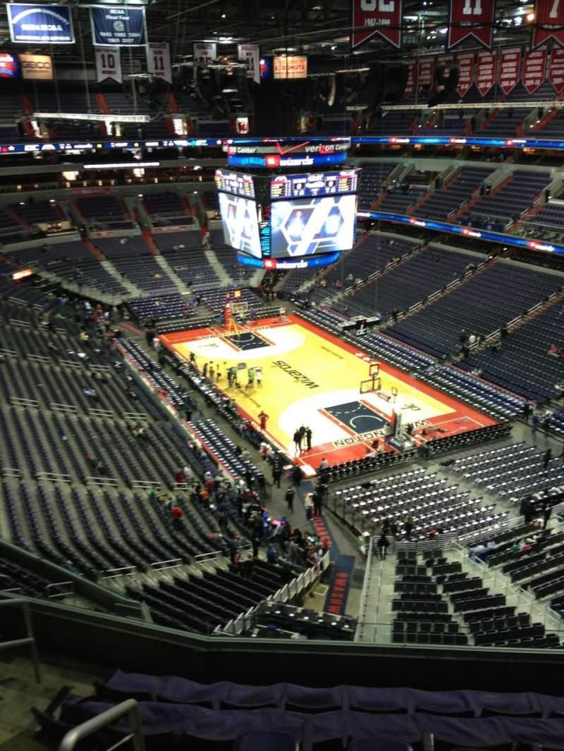 Seating view for Verizon Center Section 408 Row G Seat 1