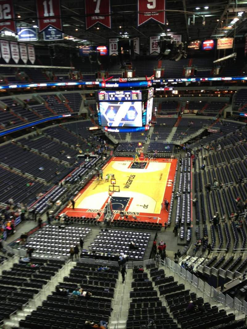 Seating view for Verizon Center Section 411 Row G Seat 1