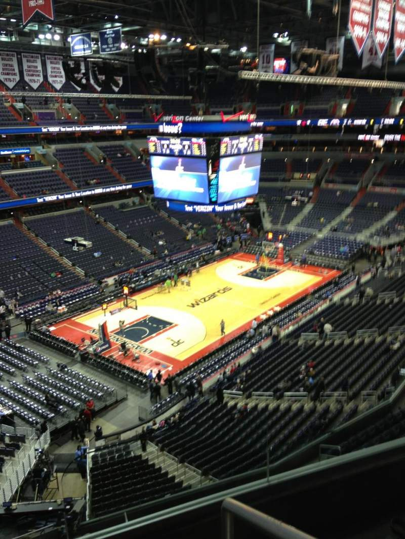 Seating view for Verizon Center Section 414 Row G Seat 1