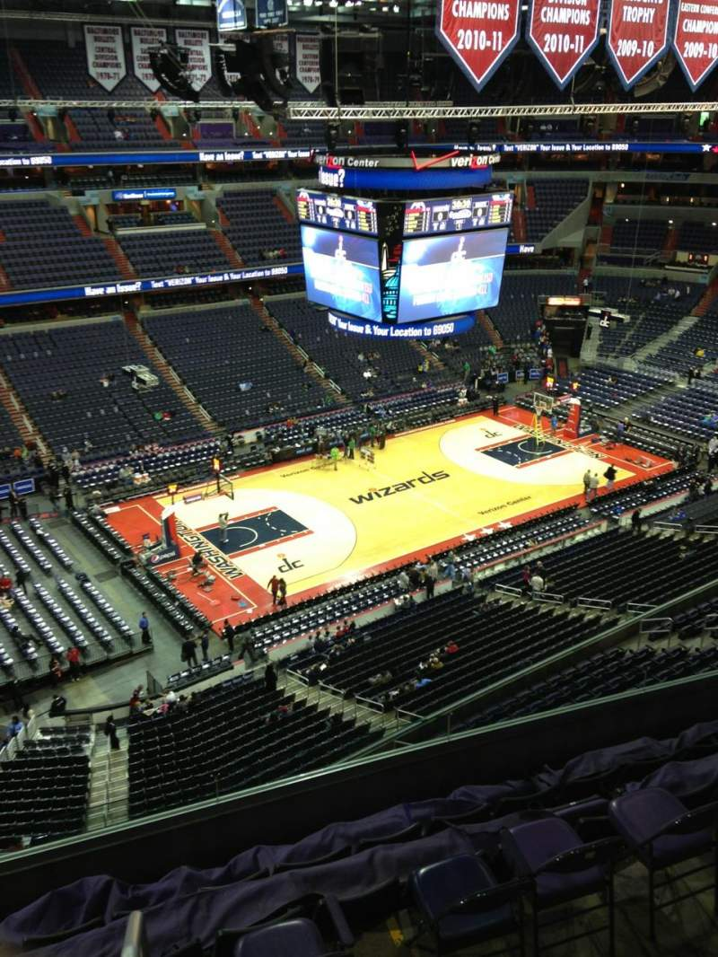 Seating view for Verizon Center Section 415 Row G Seat 1