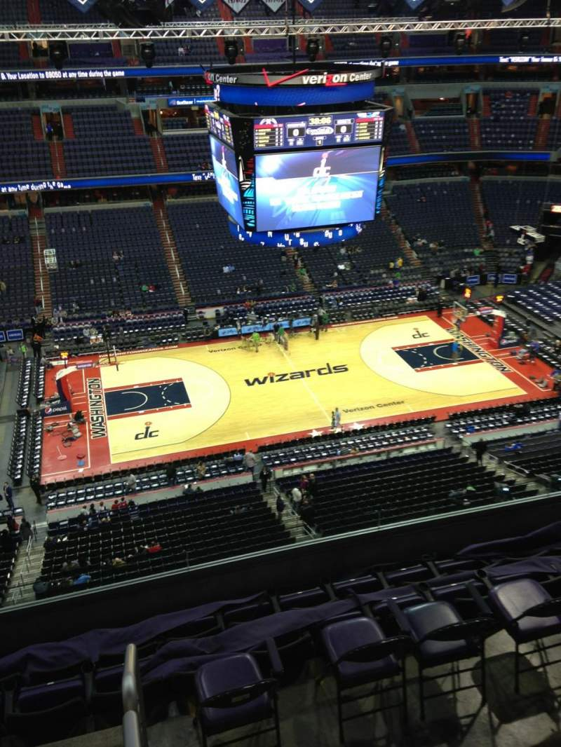 Seating view for Verizon Center Section 417 Row G Seat 1