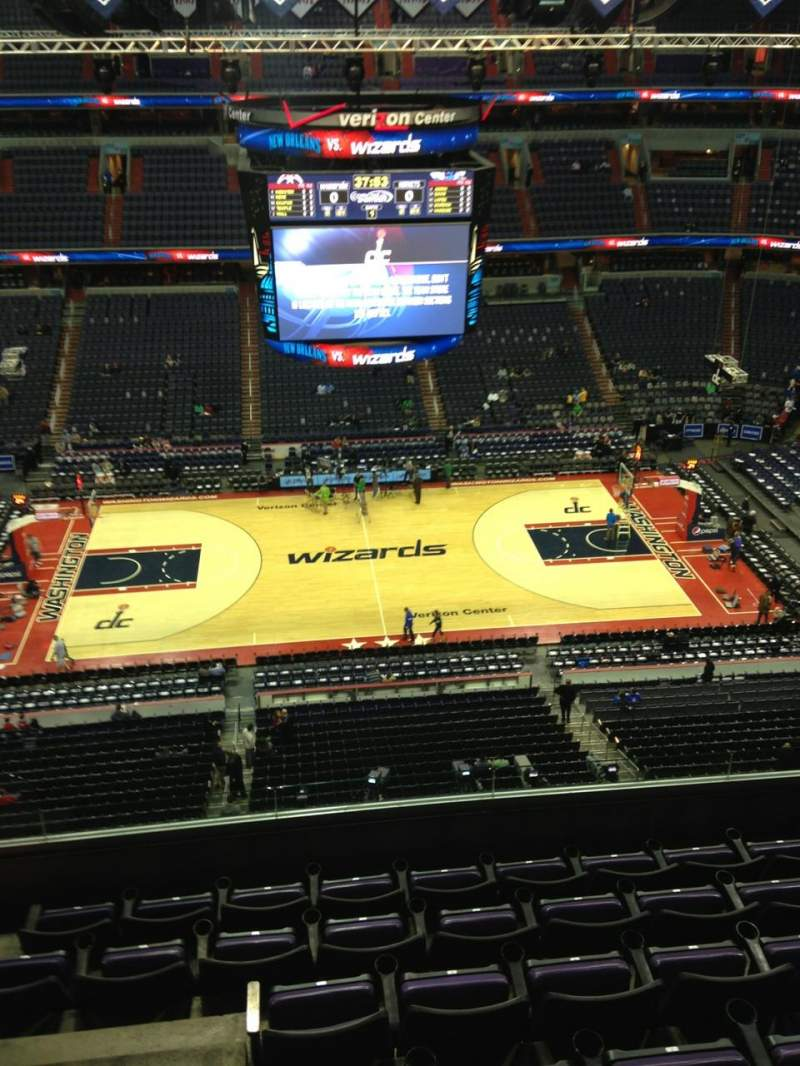 Seating view for Verizon Center Section 418 Row G Seat 1