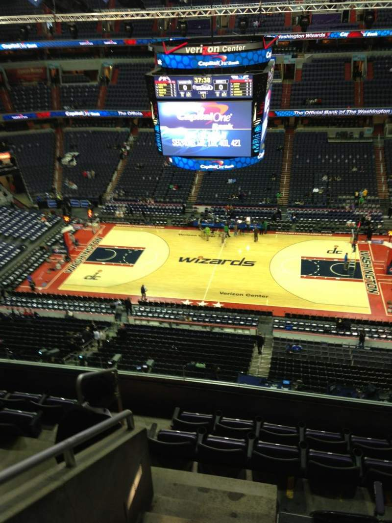 Seating view for Verizon Center Section 419 Row G Seat 1