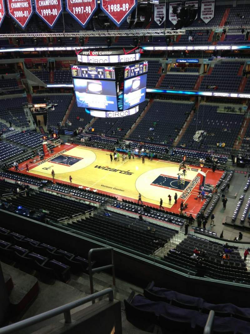 Seating view for Verizon Center Section 420 Row G Seat 1