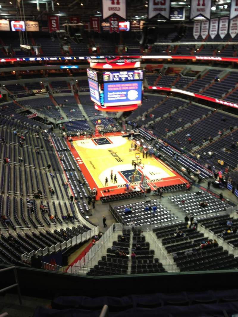 Seating view for Verizon Center Section 421 Row G Seat 1