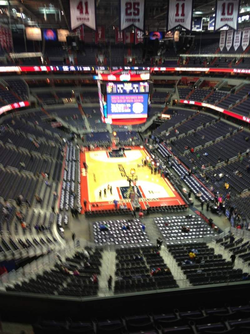 Seating view for Verizon Center Section 424 Row G Seat 1