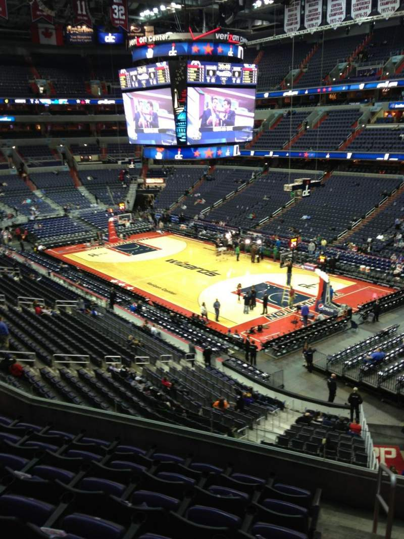 Seating view for Verizon Center Section 220 Row F Seat 1