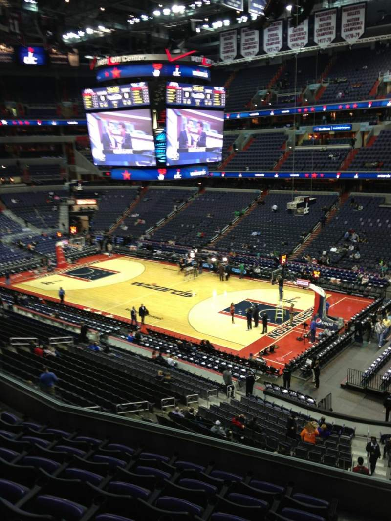 Seating view for Verizon Center Section 219 Row F Seat 1