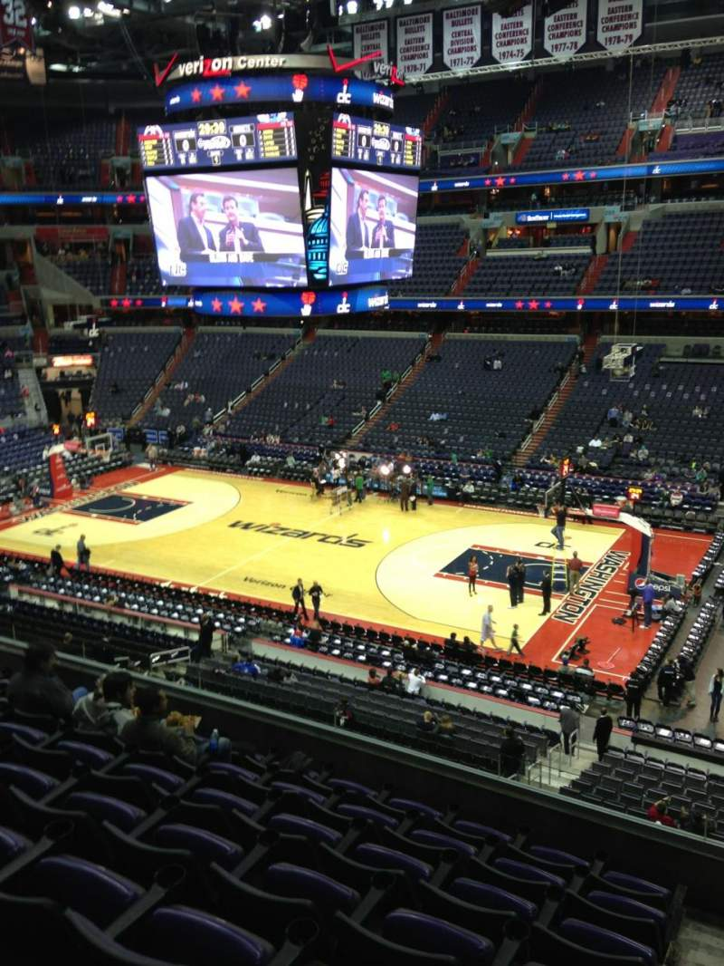 Seating view for Verizon Center Section 418 Row F Seat 1