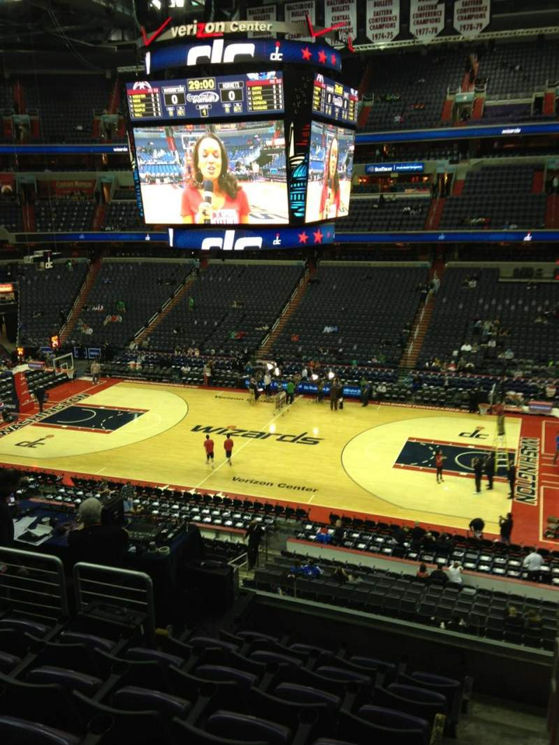 Seating view for Verizon Center Section 217 Row G Seat 1