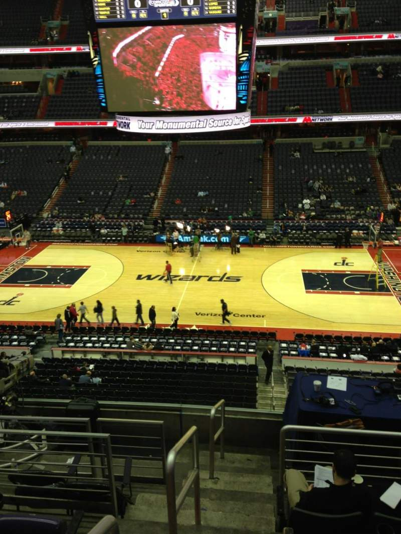 Seating view for Capital One Arena Section 216 Row F Seat 1