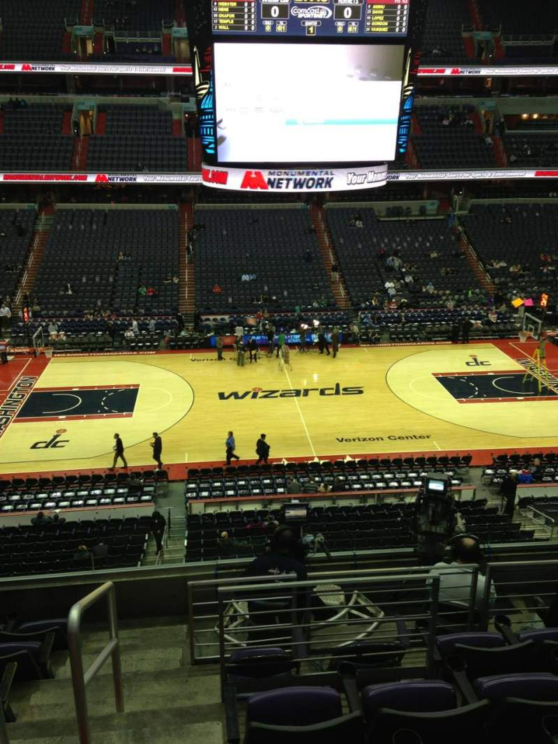 Seating view for Capital One Arena Section 215 Row F Seat 1