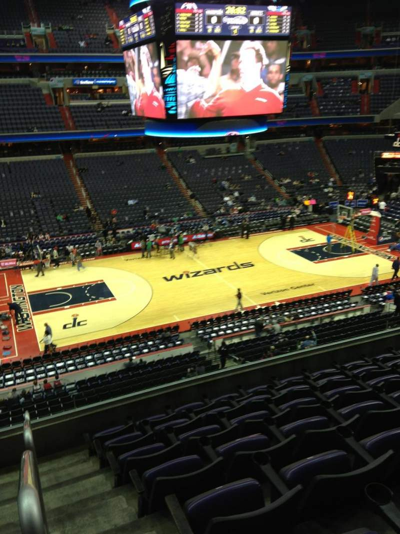 Seating view for Capital One Arena Section 214 Row F Seat 1