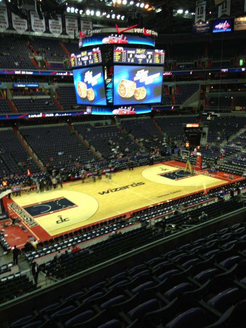 Seating view for Capital One Arena Section 213 Row F Seat 1