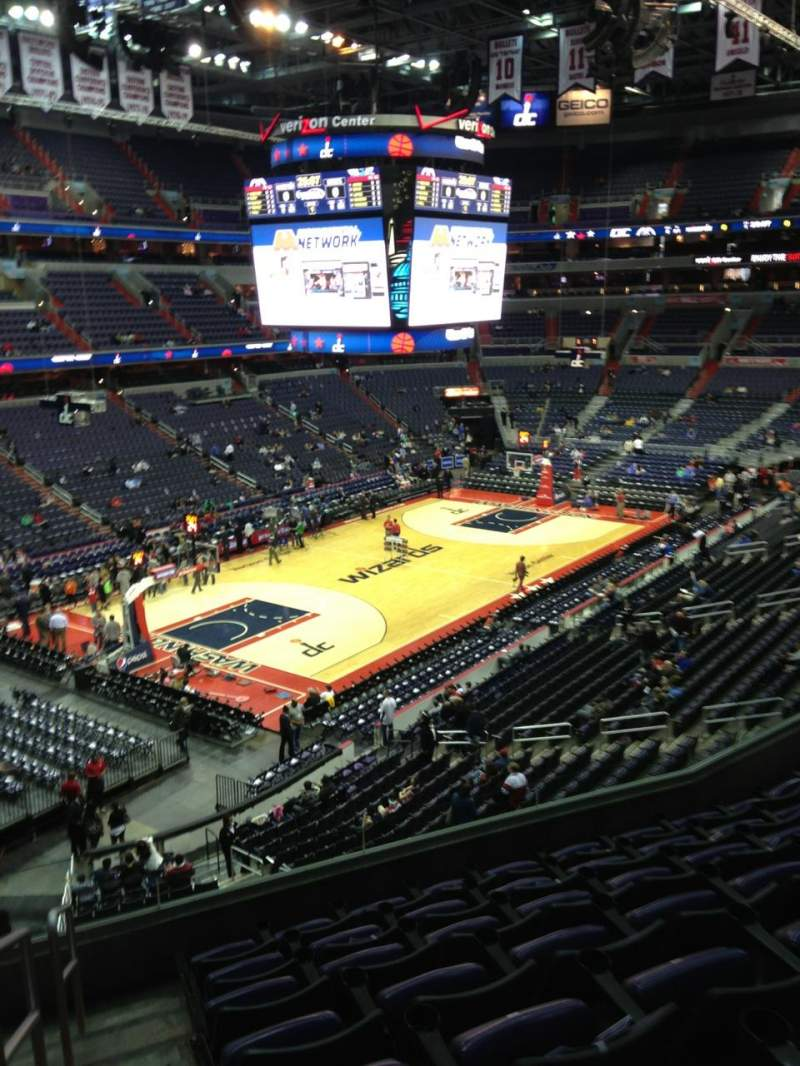 Seating view for Verizon Center Section 211 Row F Seat 1