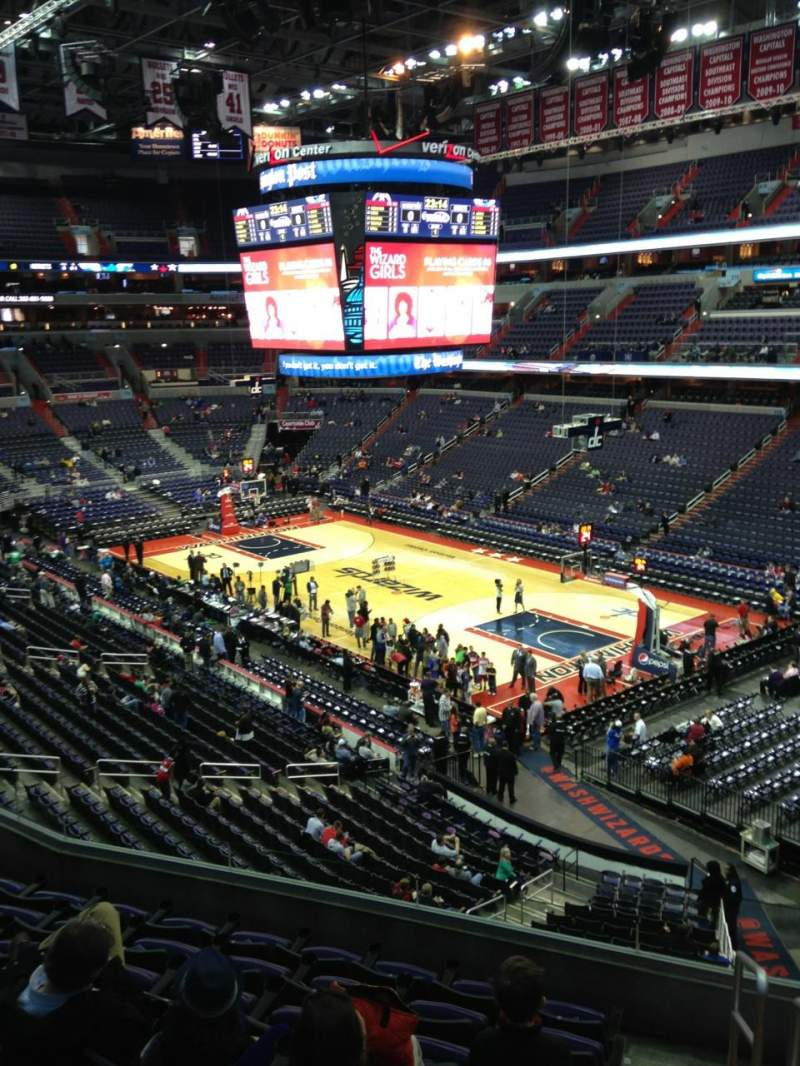 Seating view for Verizon Center Section 204 Row F Seat 1