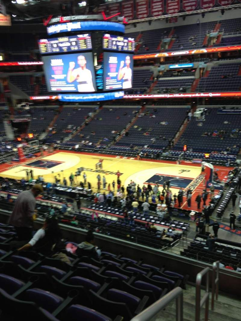Seating view for Verizon Center Section 201 Row F Seat 1