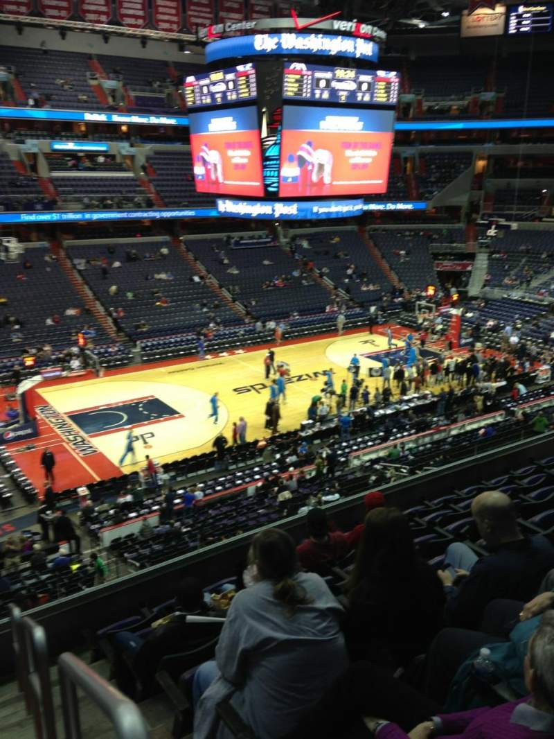 Seating view for Verizon Center Section 228 Row F Seat 1