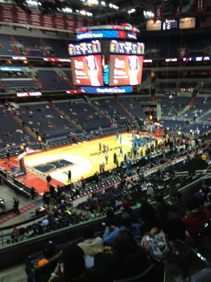 Seating view for Verizon Center Section 227 Row F Seat 1