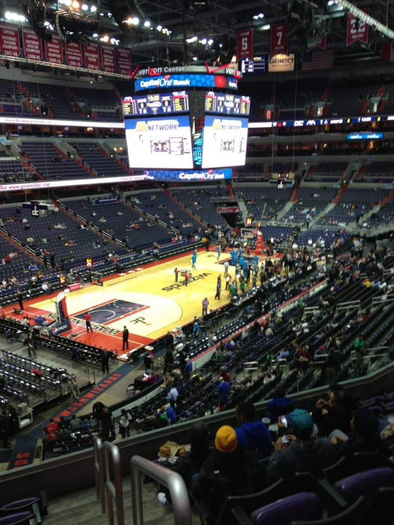 Seating view for Verizon Center Section 226 Row F Seat 1