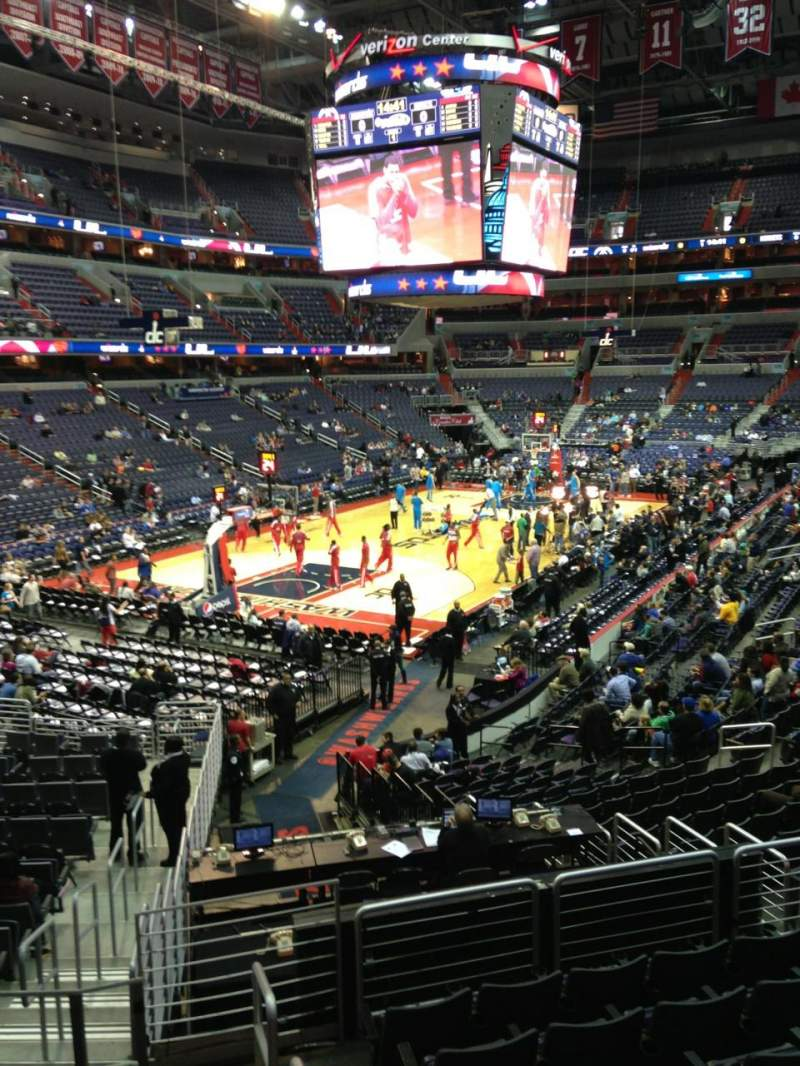 Seating view for Verizon Center Section 118 Row R Seat 20
