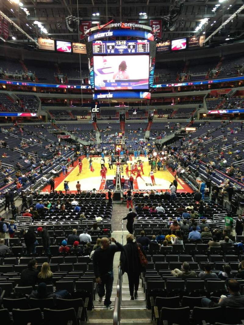 Seating view for Capital One Arena Section 116 Row R Seat 20