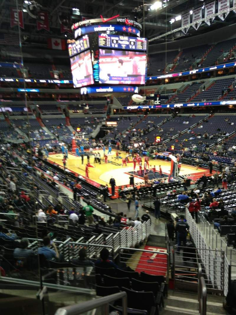 Seating view for Verizon Center Section 114 Row R Seat 20