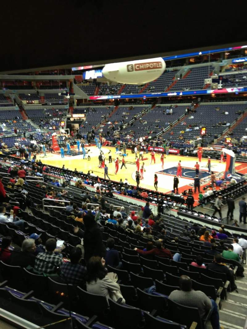 Seating view for Verizon Center Section 113 Row R Seat 20