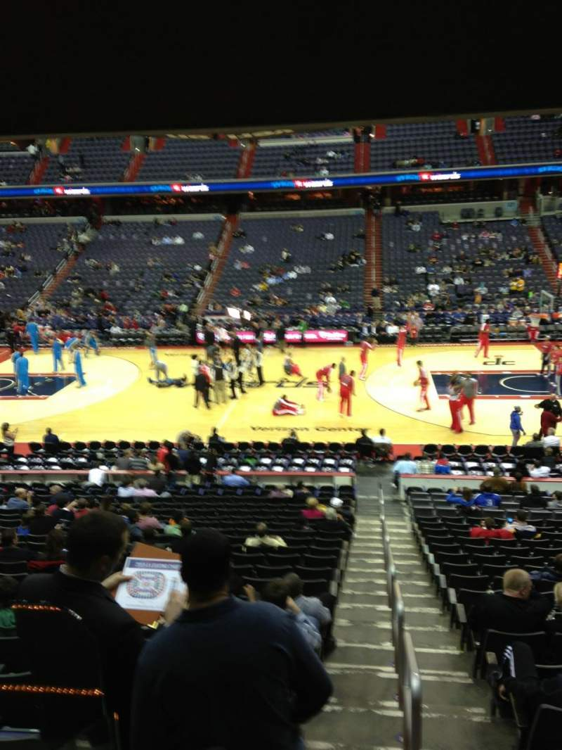 Seating view for Verizon Center Section 112 Row R Seat 20