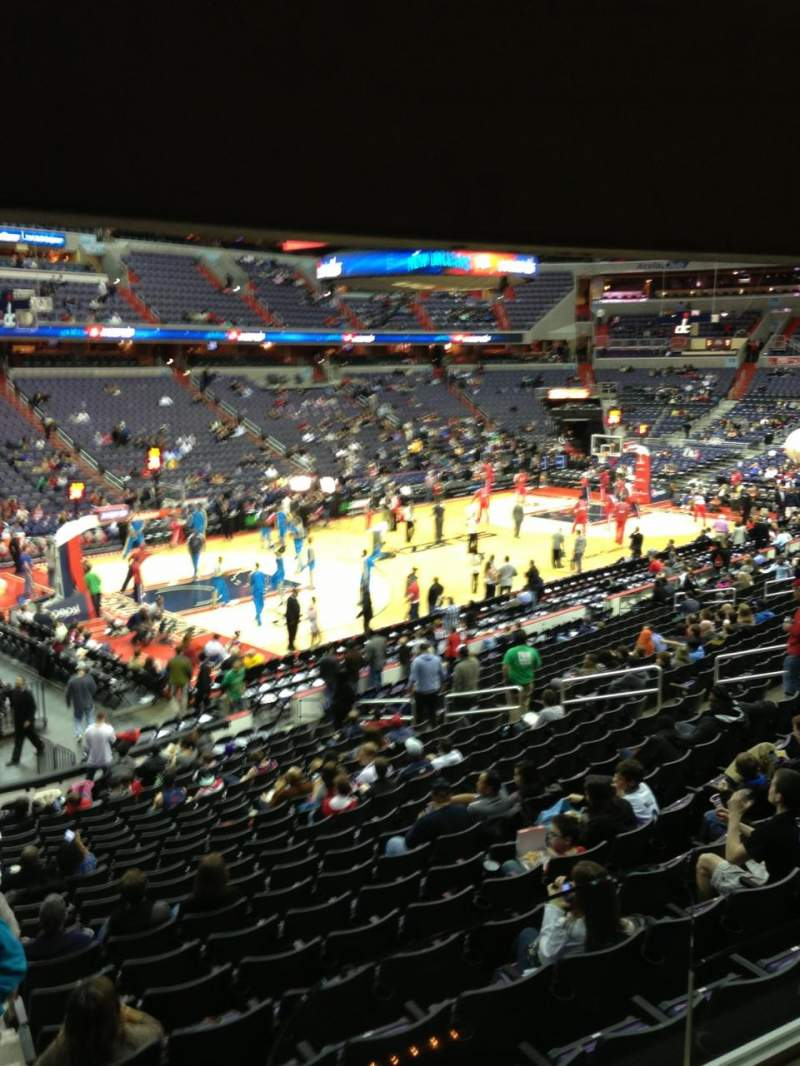 Seating view for Verizon Center Section 109 Row R Seat 20