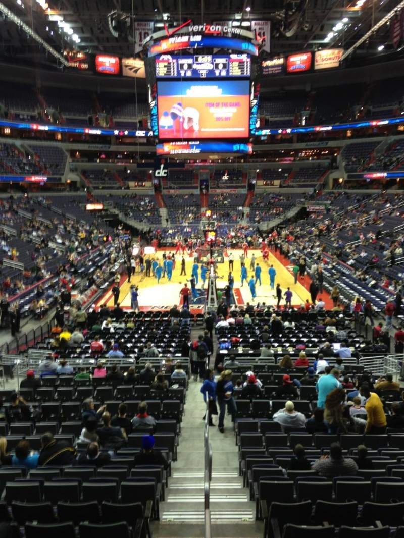 Seating view for Verizon Center Section 106 Row R